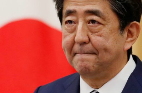 FILE PHOTO: Japan's Prime Minister Shinzo Abe holds a news conference in Tokyo, Japan May 25, 2020. REUTERS/Kim Kyung-Hoon/Pool/File Photo